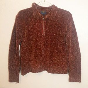 Free People Zip-Up Sweater Sz M